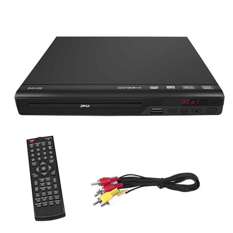 CD-диски HD 1080P, DVD-плеер, совместимый развлекательный проигрыватель, музыка, видео, аудио, ТВ, медиа, AV, USB, пульт дистанционного управления, вилк...