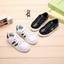 2019 Autumn New Fashion Children Casual Shoes Kids Small White Sneakers All-match Leather GG Barnd