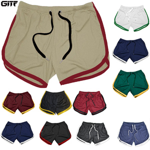 Running Shorts Men Gym Fitness Training GITF Quick Dry Beach Short Pants Male Summer Sports Workout Fitness Bottoms 2020 New