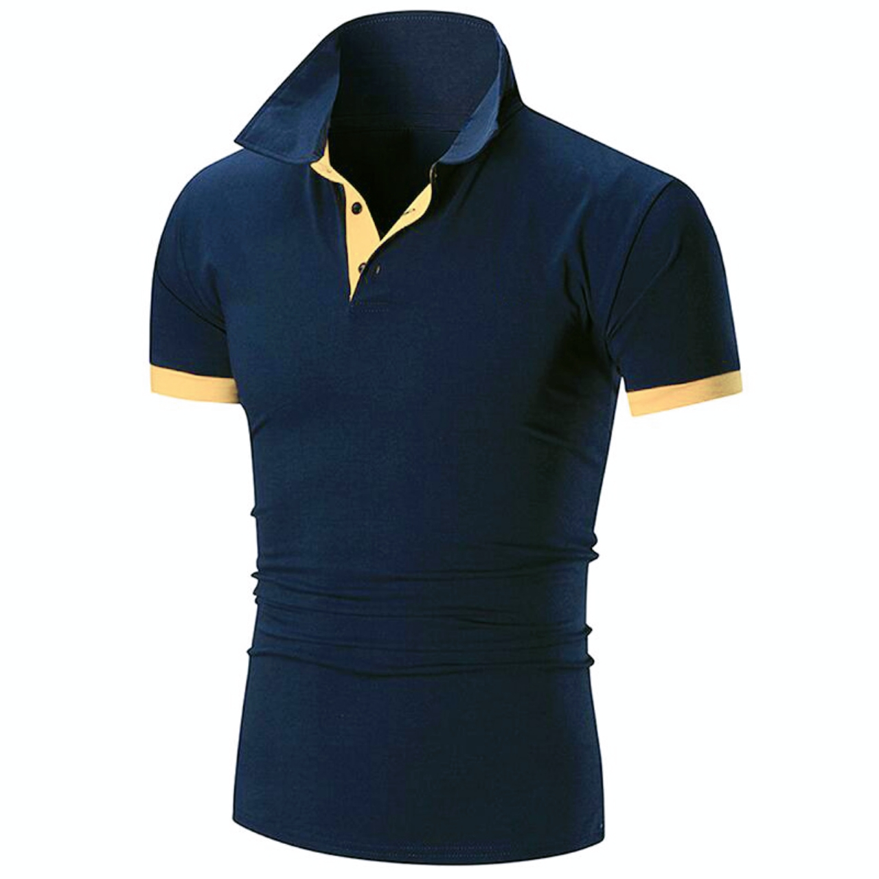 Covrlge Polo Shirt Men Summer Stritching Men's Shorts Sleeve Polo Business Clothes Luxury Men Tee Shirt Brand Polos MTP129 6