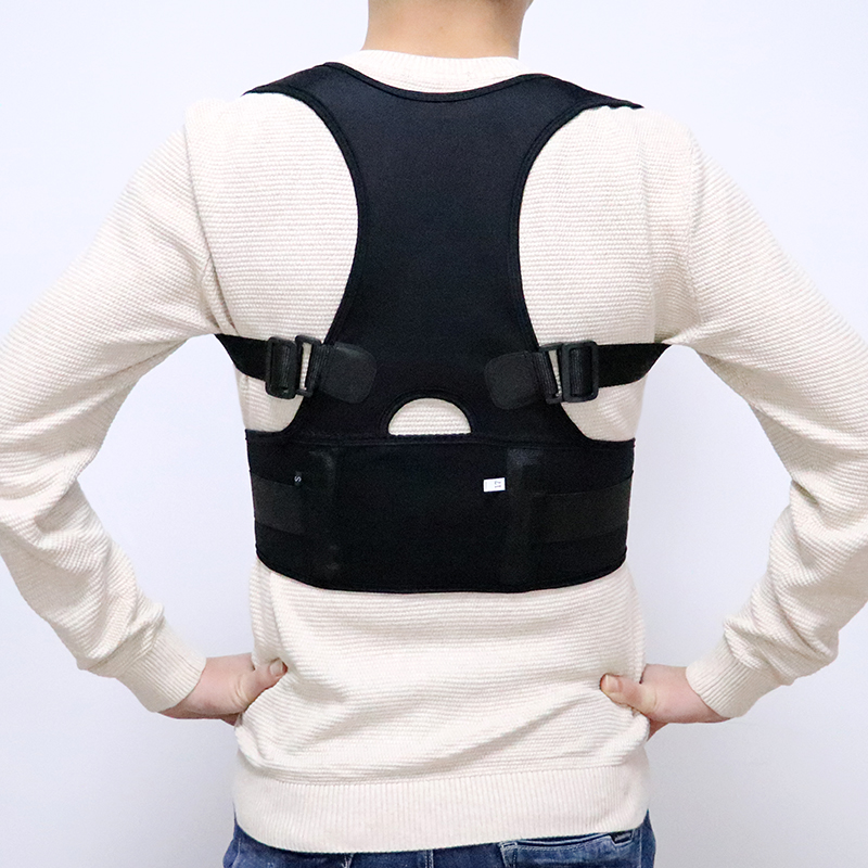 Male Female Adjustable Posture Corrector Corset Back Men Black Brace Back Shoulder Belt Lumbar Support Straight S-4XL Shapers