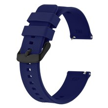 Anbeer Siliocne Watch Band 18mm 19mm 20mm 21mm 22mm, Quick Release Watch Straps for Men Women