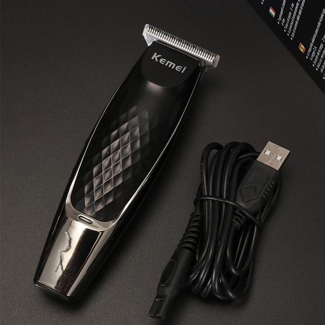 Kemei tondeuse à cheveux électrique KM-1951 tête dhuile rechargeable tondeuse à cheveux coupe de cheveux machine gravure délié USB charge