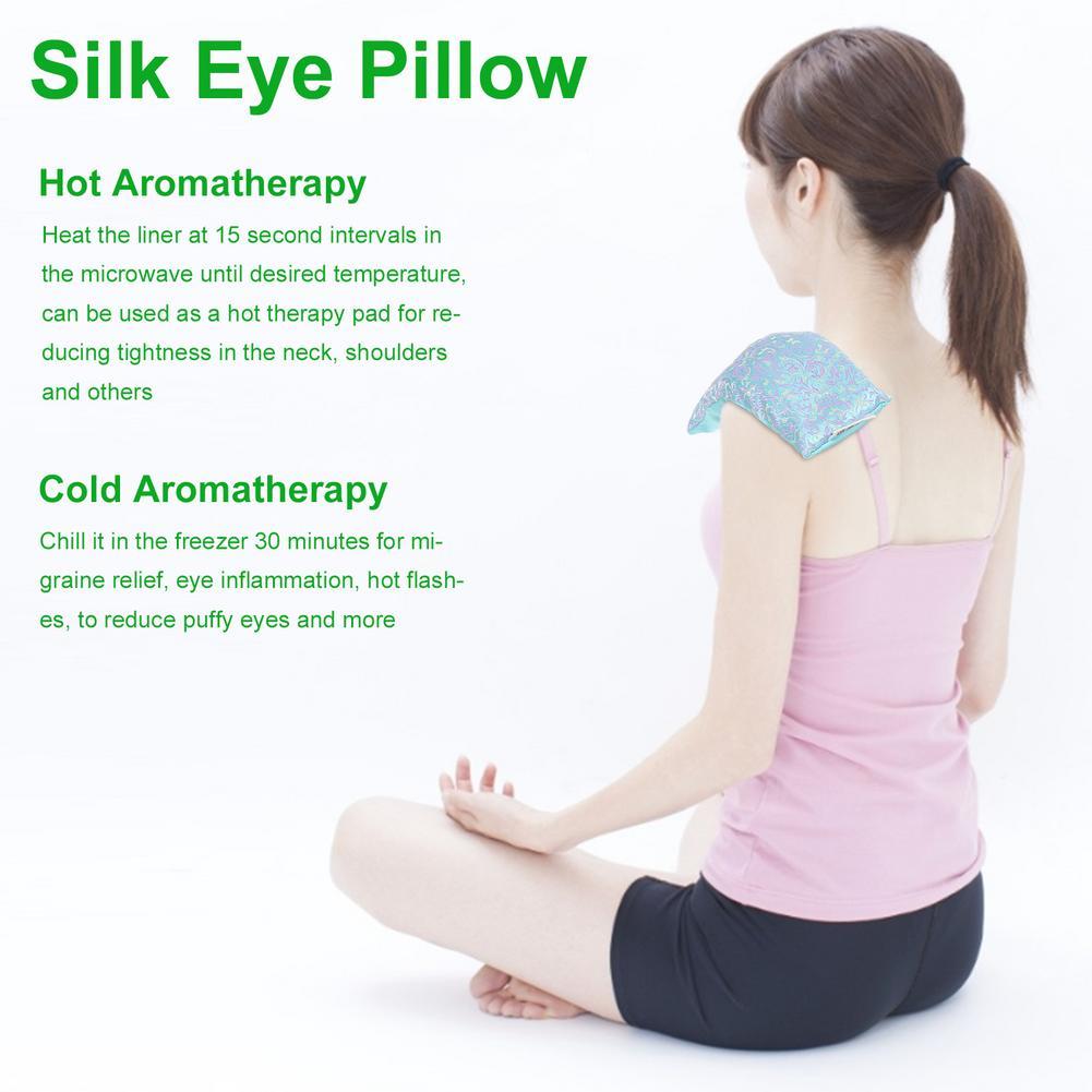 Lavanda aromaterapia olho de seda travesseiro cassia