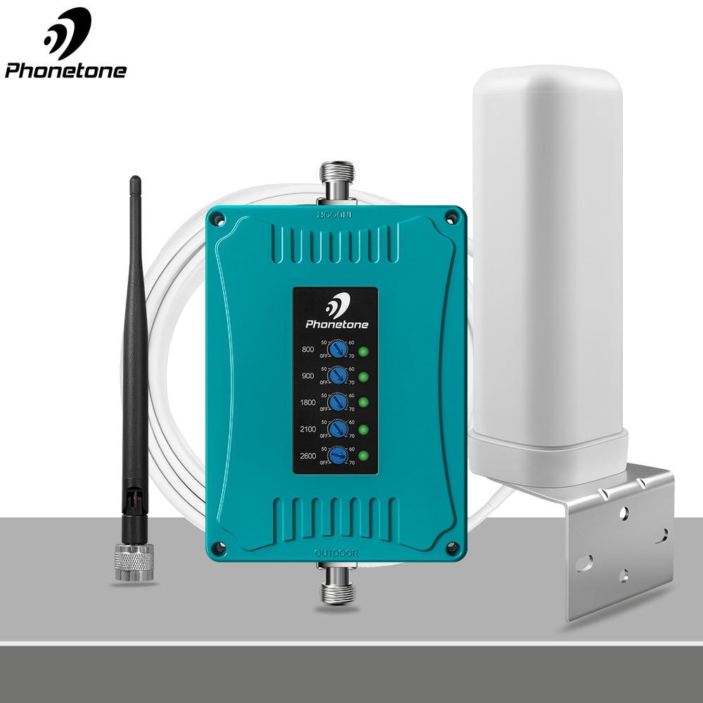 4G повторитель сигнала 4G 2600 МГц 800/900/1800/2100/2600/МГц 2G 3g мобильного телефона повторитель Сотовая связь усилитель сигнала всенаправленная антенн