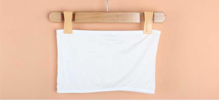 ילדים חולצת סטרפלס מודאלי כותנה תחתוני תינוק ילדי ילדה camisoles אימון חזיות סטרפלס לבן גופיות חזה פצע