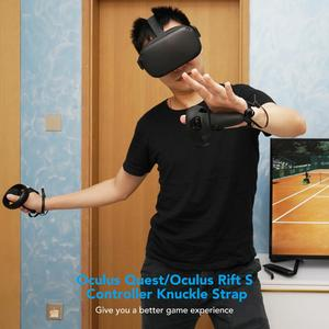 Image 5 - 키위 디자인 1 키트 PU 너클 스트랩 (손목 스트랩 포함) Oculus Quest / Oculus Rift S 터치 컨트롤러 그립 액세서리