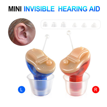 Red/Blue Colors CIC Digital 6 Channels 12 bands Hearing Aids Sound Amplifier Audiphones Mini Aid Invisible Ear Care Tools best selling micro digital amplifier volume hearing aid mini cic sound amplifier in the ear s 10b free shipping