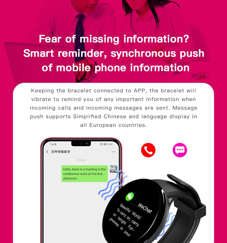 YOCUBY D18 Smart Watch Men Waterproof Sleep Tracker Heart Rate Tracke Smartwatch Blood Pressure Blood Oxygen Sports Watch PK D13