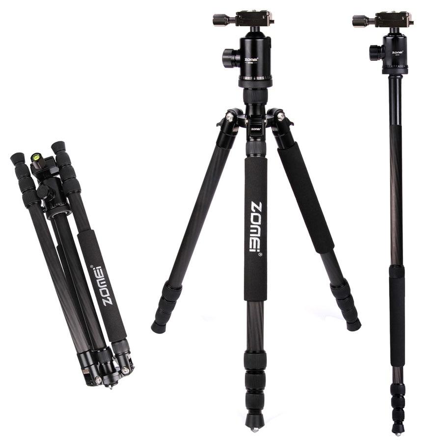 ZOMEI Z888C Camera Tripod Stand Holder Carbon Fiber Cameras Monopod For DSLR Camera Professional Travel Tripods With Ball Head