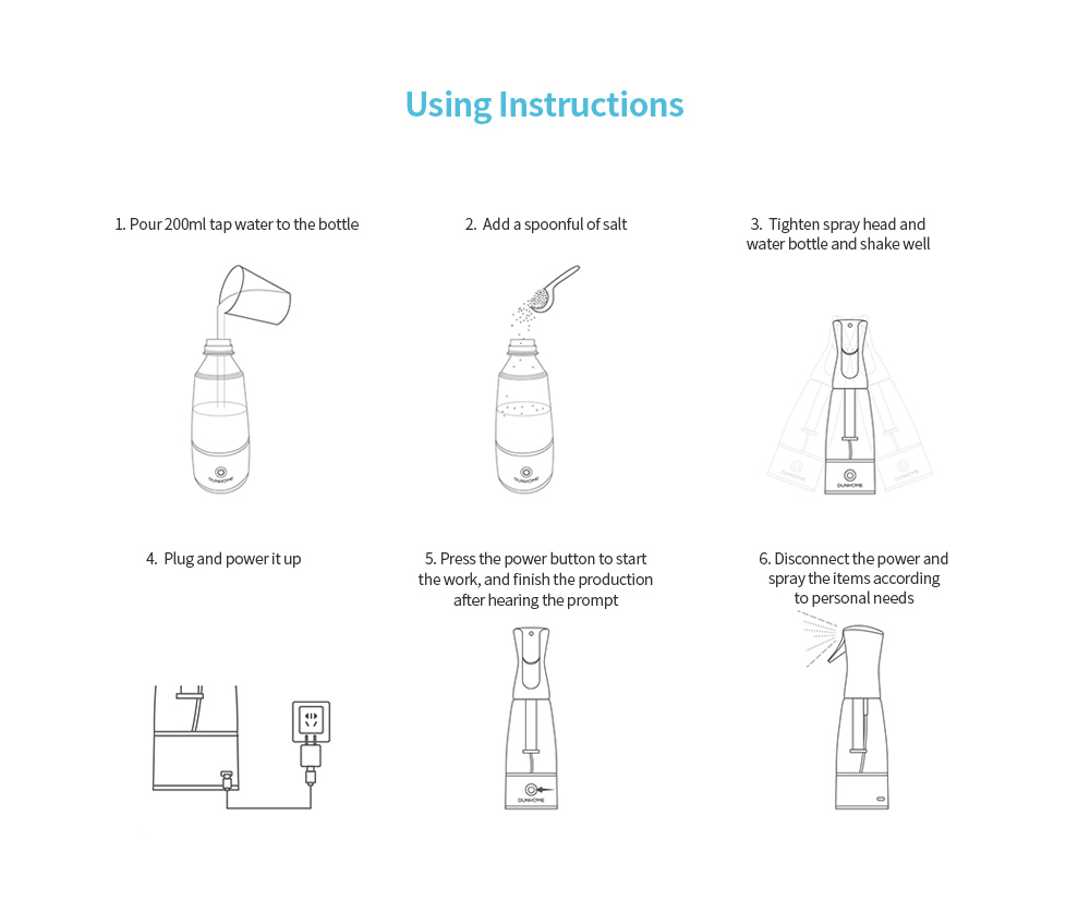 Xiaomi Disinfection Water Generator Spray Bottle Sodium Hypochlorite Gener Portable Simple Household Disinfectant Making Machine