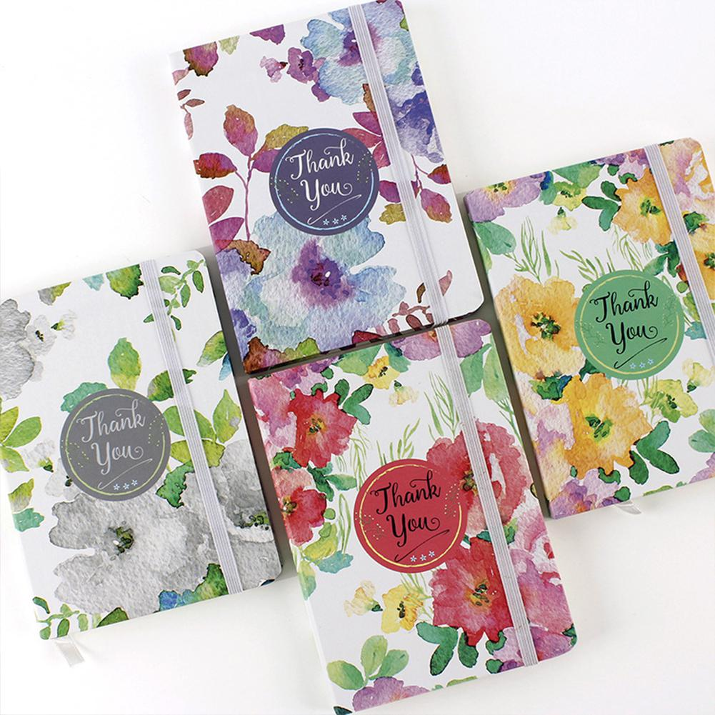 TWISTER.CK Notebook With Floral Plants Printing Cover For Students Writing
