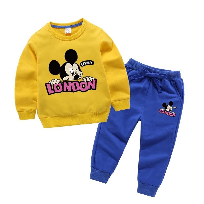 Baby girl clothes autumn costume for children 100% cotton cartoon children's suit tracksuit for children kids clothes boy suit 5