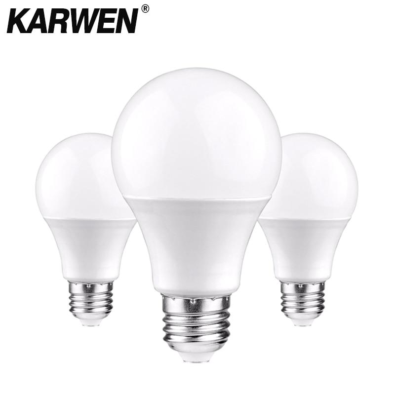 Светодиодные лампы KARWEN E27 E14 светильник-220 В, 3/6/9/12/15/18/20 Вт