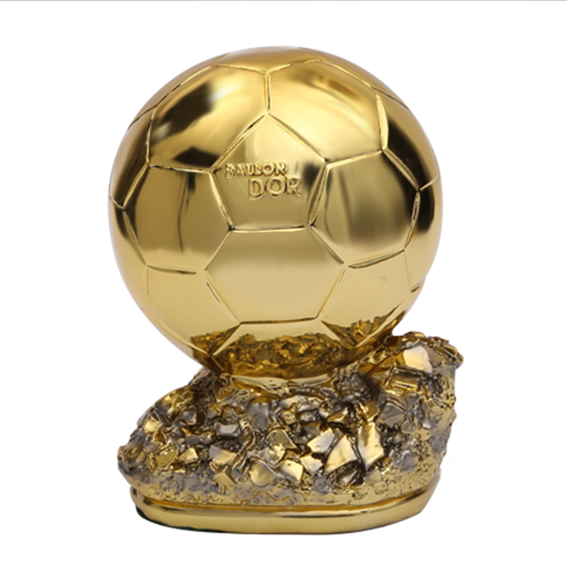 Plating Golden Globe Award Art Sculpture Football Match Resin Trophy Figurines Resin Crafts Desktop Decorations For Home R3955