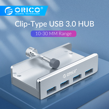 ORICO Clip-type USB3.0 HUB Aluminum External Multi 4 Ports USB Splitter Adapter for Desktop Laptop Computer Accessories(MH4PU) orico du3d bk usb 3 0 to dvi external graphics for computer screen extention black
