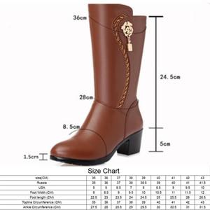 Image 2 - AIYUQI/Новинка 2020 года; Женские шерстяные ботинки из натуральной кожи; Теплые зимние ботинки; Женские мотоциклетные ботинки; Большие размеры 41, 42, 43