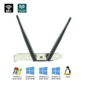 Ubit Bluetooth WiFi карта AC 1200 Мбит/с 7265 беспроводной WiFi PCIe сетевой адаптер карта 5 ГГц/2,4 ГГц Двухдиапазонная PCI Express сетевая карта