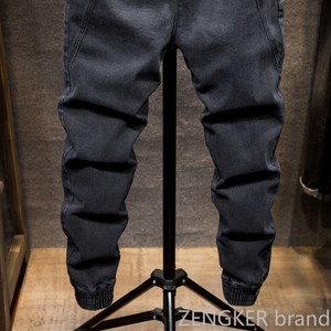 Image 3 - Autumn and spring models elastic waist Harlan jeans mens tide brand fat fat people large size small feet closing tooling beam