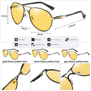 Image 5 - 2020 חדש טייס משקפי שמש גברים מקוטב Photochromic משקפיים נשים יום ראיית לילה נהיגה משקפי UV400 LENTES דה סול hombre