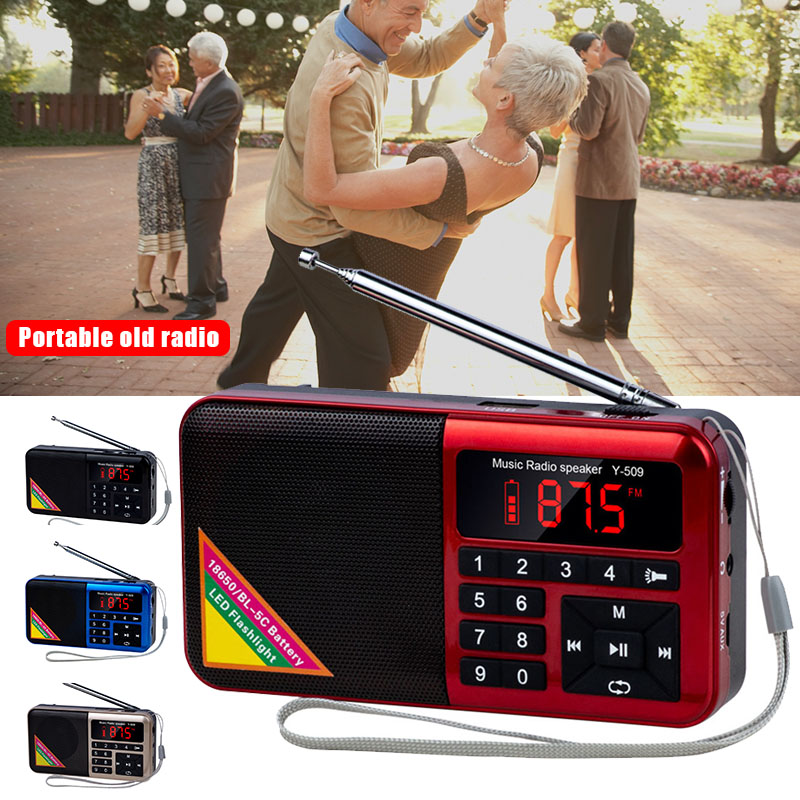 Portable Radio for Elder Multi Functional Media Speaker MP3 Music Player GDeals