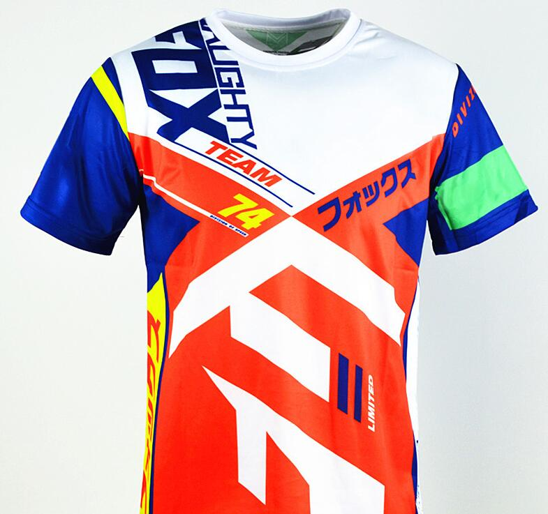 2019 Mountain Downhill Dirt Bike Short Sleeve Shirts Cycling Jersey DH MX MTB Racing Leisure T Shirts Off Road Motocross Jersey in Shirts Tops from Automobiles Motorcycles