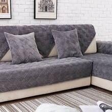 Короткое плюшевое серое полотенце для дивана Европейский короткий