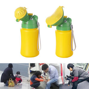 Portable Potty Urinal Toilet Travel Outdoor Kids Child Car Cute Cartoon Anti-Leakage