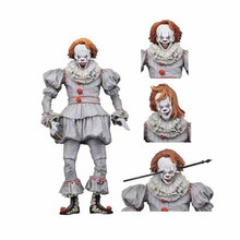 18 Cm Neca Langka Film Stephen King Ini Pennywise Joker Clown Mainan Horor Street Freddy Boneka Halloween hari(China)