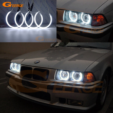 For BMW E36 3 Series with Euro headlights 1992 1998 Excellent Ultra bright CCFL Angel Eyes kit Halo Ring Day Light
