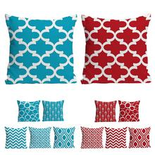 6PCS Pillow Covers Colorful Geometric Pillowcase Cushion Cover Cotton Linen Home Decoration Living Room Sofa Hug Pillow Case цены