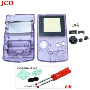 Image 3 - GBC 한정판 용 JCD 8 세트 Gameboy 컬러 게임 콘솔 용 쉘 교체 전체 하우징 + 전도성 d 패드 + 스크루 드라이버