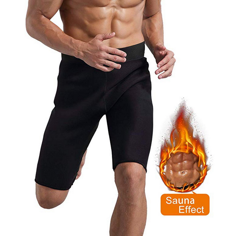 New Men Hot Sweat Sauna Thermo Slimming Sports Shorts Thigh Shaper For Weight Loss Neoprene Fat Burner Male 2019 Fashion