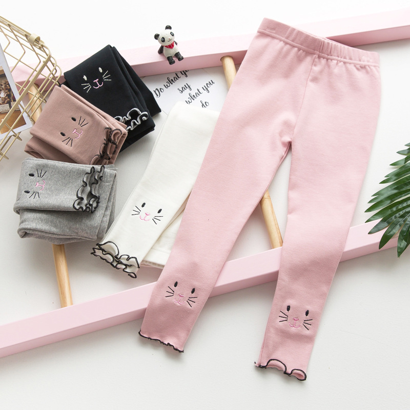 Children Leggings Kids Cotton Warm And Comfortable Autumn Winter Soft Girl Trousers Leggings For Girls Age 2-6T