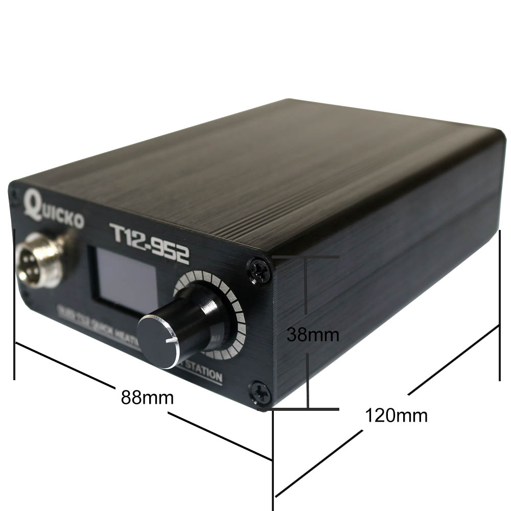 With Digital T12 Electronic T12 Handle STC Soldering Quicko New T12  OLED 2019 Station Soldering Version Iron 952 Welding Iron