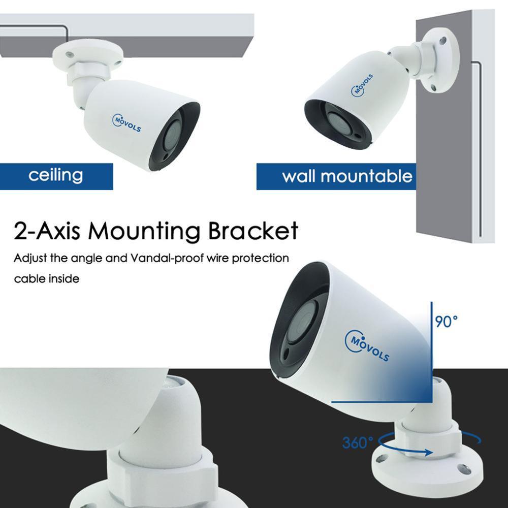 Image 4 - Movols 5MP kamera ochrony AHD/TVI/CVI/analogowe 4 w 1 kamera noktowizyjna z 60ft CCTV BNC i DCplug kabel do System DVRKamery nadzoru   -