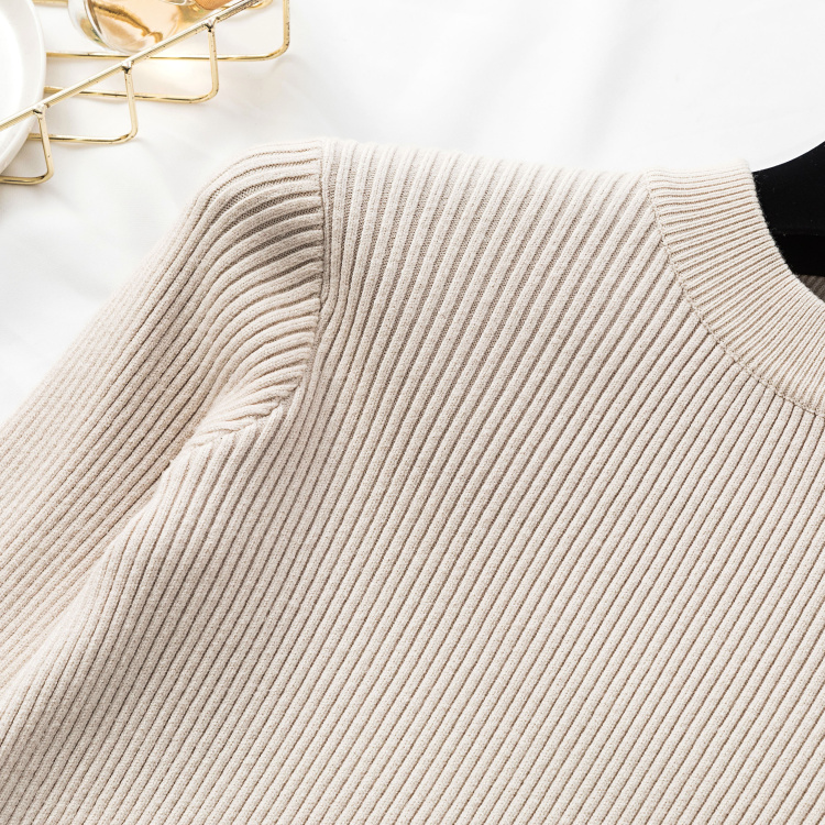 Autumn Women Long Sleeve Pure Slim Sweater Winter Knitted Turtleneck Casual Cashmere Pullover Metal Buttons Split Cuff Basic Top 10