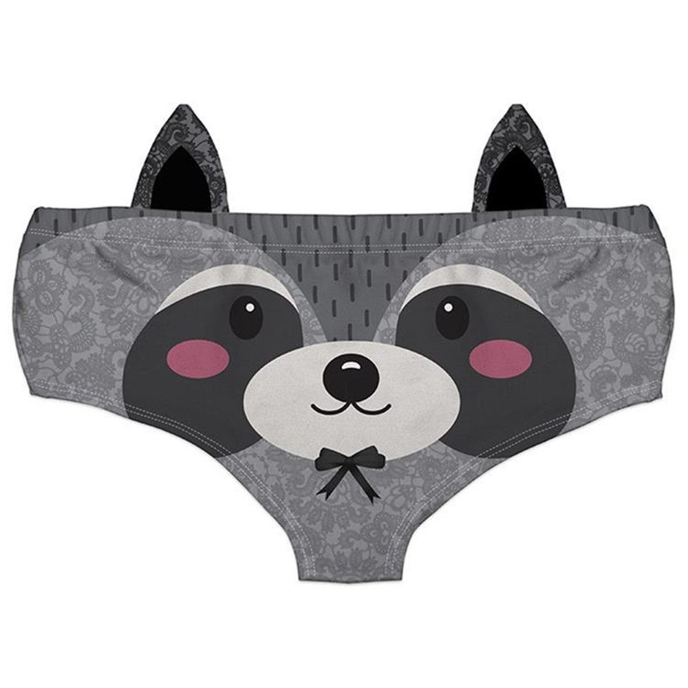 Women Sexy Panties with ears Underwear Animal Printing Briefs Woman Underwear Sexy Lingerie Women's Intimates Panties z1010
