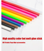 10pcs/lot 7mm color hot melt glue stick,hot melt glue gun accessories,DIY handmade house hold