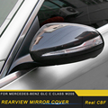 Для Mercedes Benz C Class W205 2016-2019 авто автомобиль Настоящее углеродное волокно боковое зеркало заднего вида Замена рамка накладка