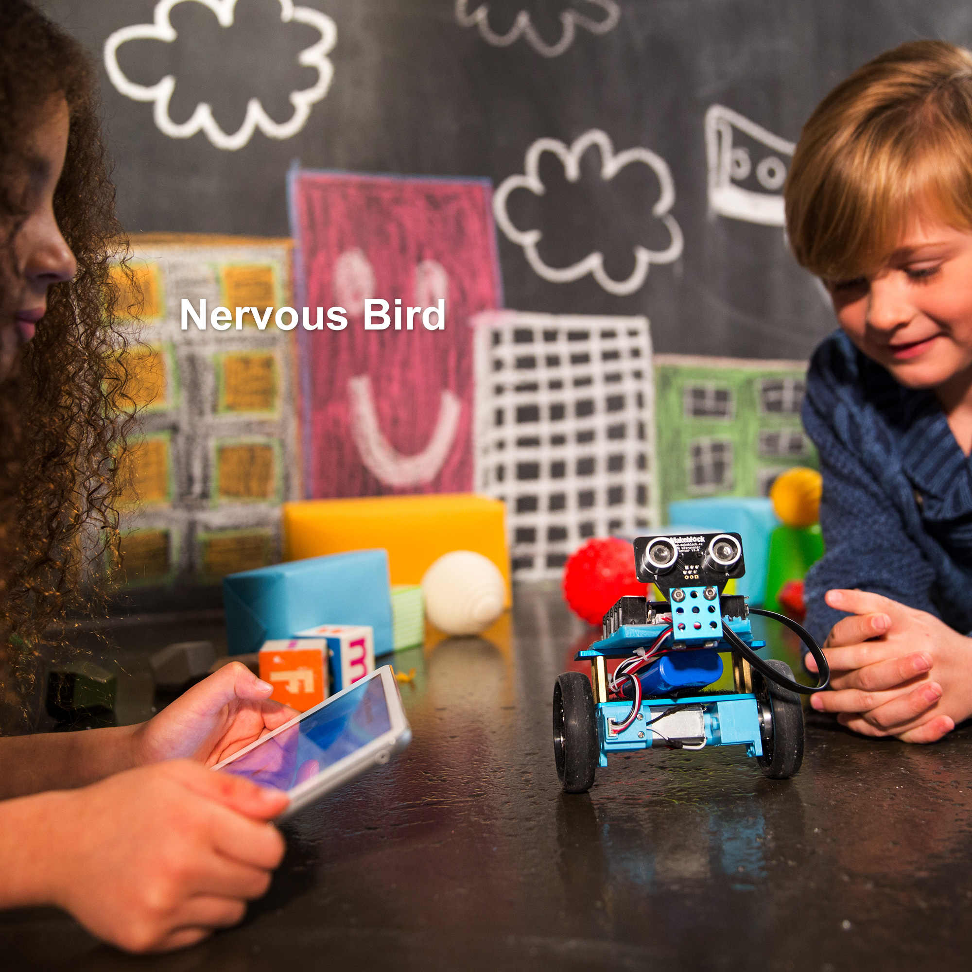 Makeblock לתכנות mBot ריינג 'ר רובוט ערכת, Arduino, גזע חינוך, 3 ב 1 לתכנות רובוטית לילדים, גיל 12 +