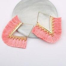 Boho Vintage Ethnic Gold Tassel Drop Earrings Jewelry Dangle Earrings Gift For Women Wedding Party  Fringe Long Pendant