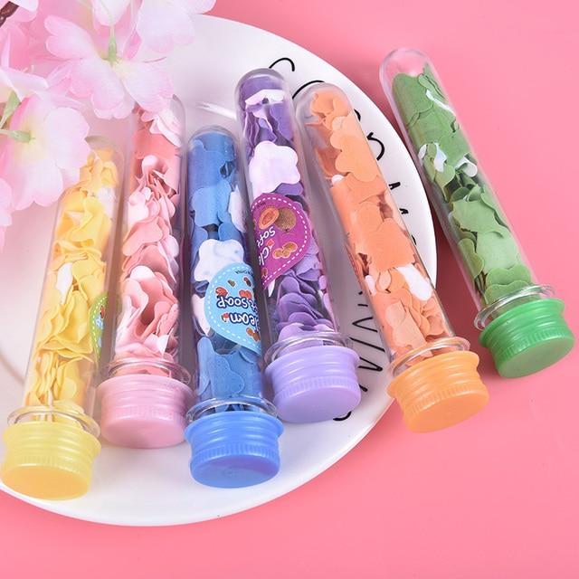 1pc Tube Portable Petal Soap Random Colors Flower Shape Fruity Odour for Travel Scented Soap Bath Child Hand Washing Soap Paper 2