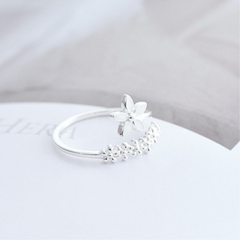 Female Resizable Opening Ring Jewelry 925 Silver Jewelry