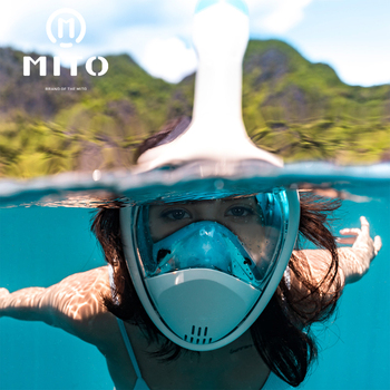 2019 MITO Diving Mask Scuba Mask Underwater Full Face Snorkeling Mask Anti Fog Panoramic Swimming Snorkel Diving Equipment GoPro new diving mask scuba mask underwater anti fog full face snorkeling mask women men kids swimming snorkel diving equipment 2 tube