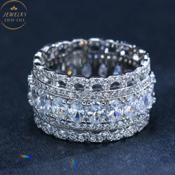 2021 New Popular European and American Style Ring Boho Style Slightly Inlaid AAA Zircon Ring Women's Jewelry Accessories