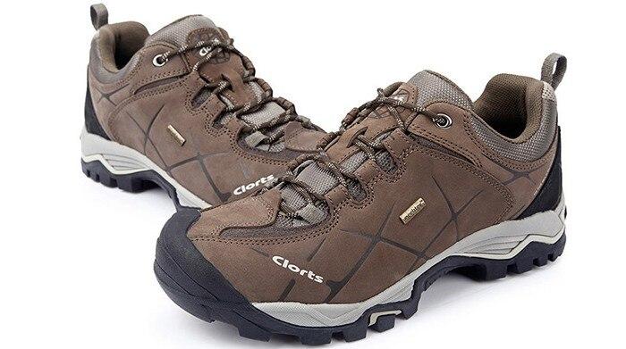 Women Outdoor Hiking Shoes Female Non-slip Genuine Leather Waterproof Walking Trekking TRAVEL Moutain Shoes CLORTS Sneaker Women