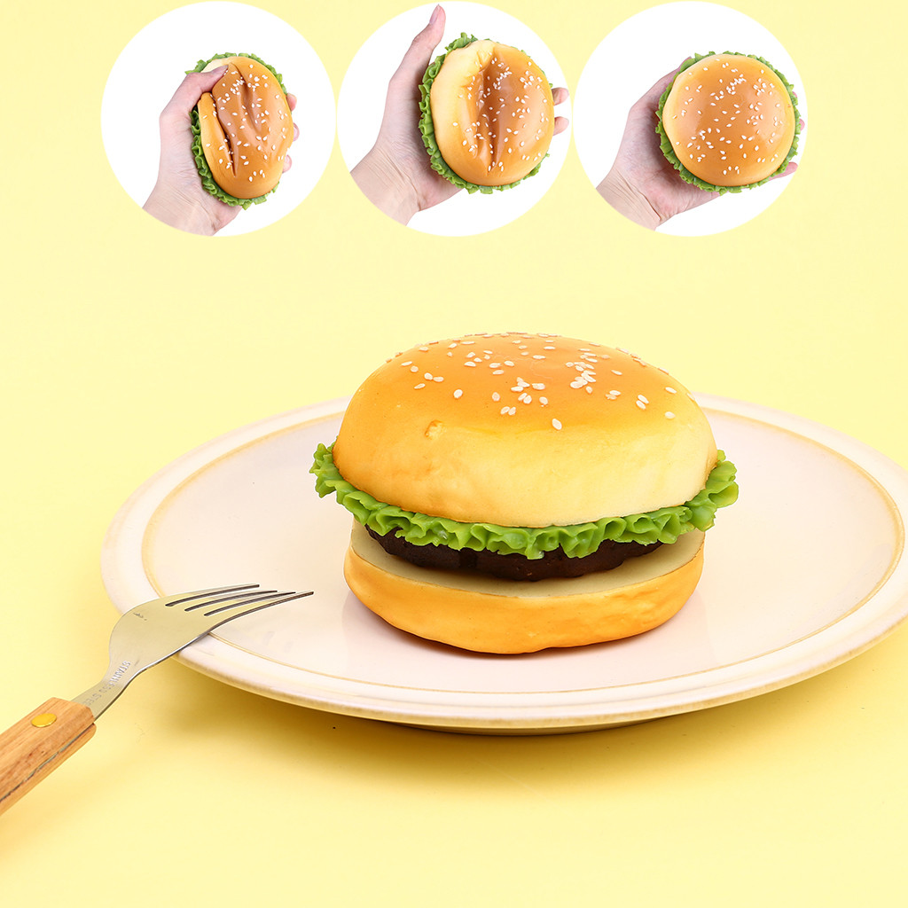 Squishy Kawaii Gigantes Fun Squeeze Toys Squishy Simulation Burger Scented Charm Slow Rising Stress Reliever ToysW729
