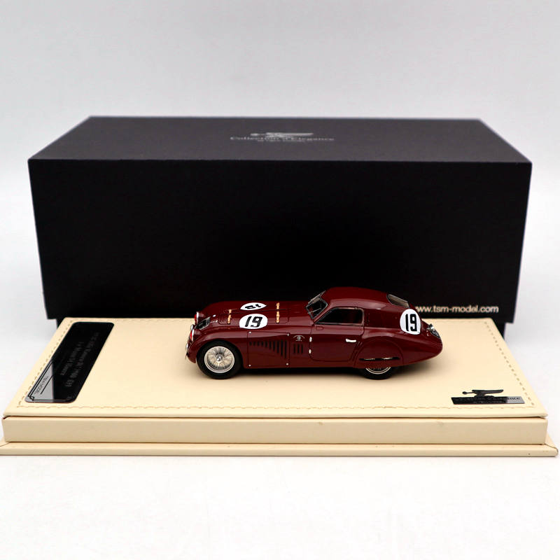 TSM <font><b>1:43</b></font> 1938 Alfa Romeo 8C 2900 #19 Le Mans 24 Hours TSMCE164301 Resin Auto Models Limited Edition Collection Toys <font><b>Car</b></font> image