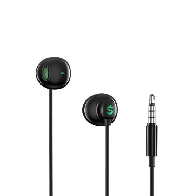 מקורי Xiaomi שחור כריש משחק אוזניות 3.5mm חצי ב אוזן חוט בקרת HiFi אוזניות עם מיקרופון עבור Xiaomi שחור כריש טלפון